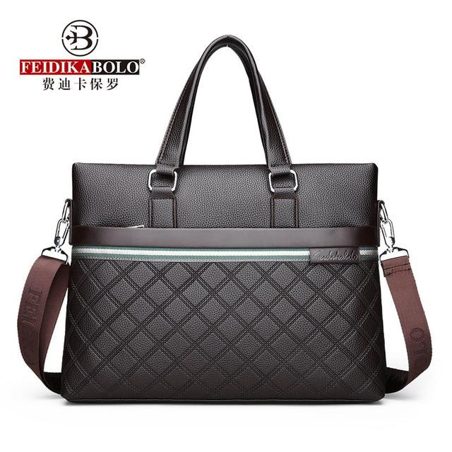 Classic Plaid Design Business Man Bag Vintage Brand Mens Messenger Bag Casual Business Male Shoulder Bags For Male bolsa Hot