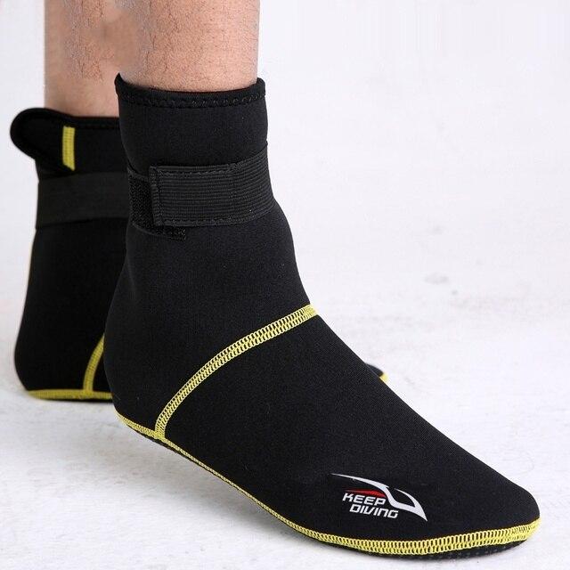Neopren Dalış Tüplü Dalış Ayakkabı Çorap 3mm Plaj Botları Wetsuit Anti Çizikler Isınma Anti Kayma Kış Mayo