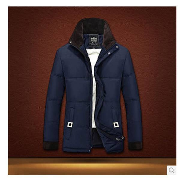 ФОТО Middle-aged Men plus size plush padded  winter coat Newest Male Cotton Warm clothes parka ropa hombre S503