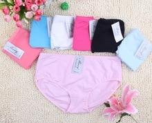Women's 100%cotton briefs large size everyday underwears soft underwears multicolors L