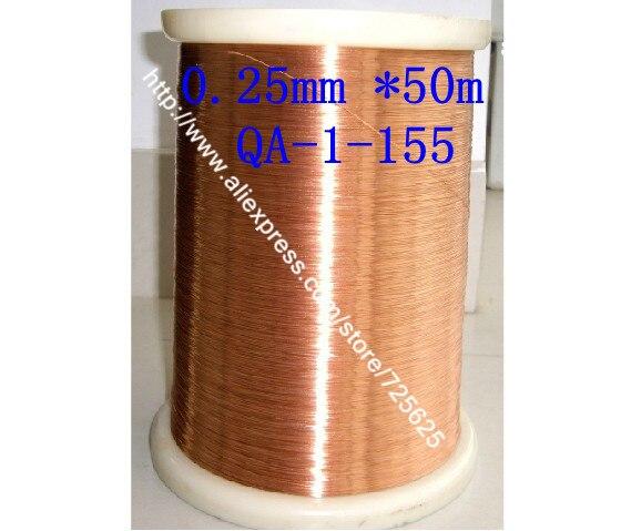 0.25mm * 50m QA-1-155 Fil émaillé en fil de cuivre émaillé en polyuréthane Livraison gratuite