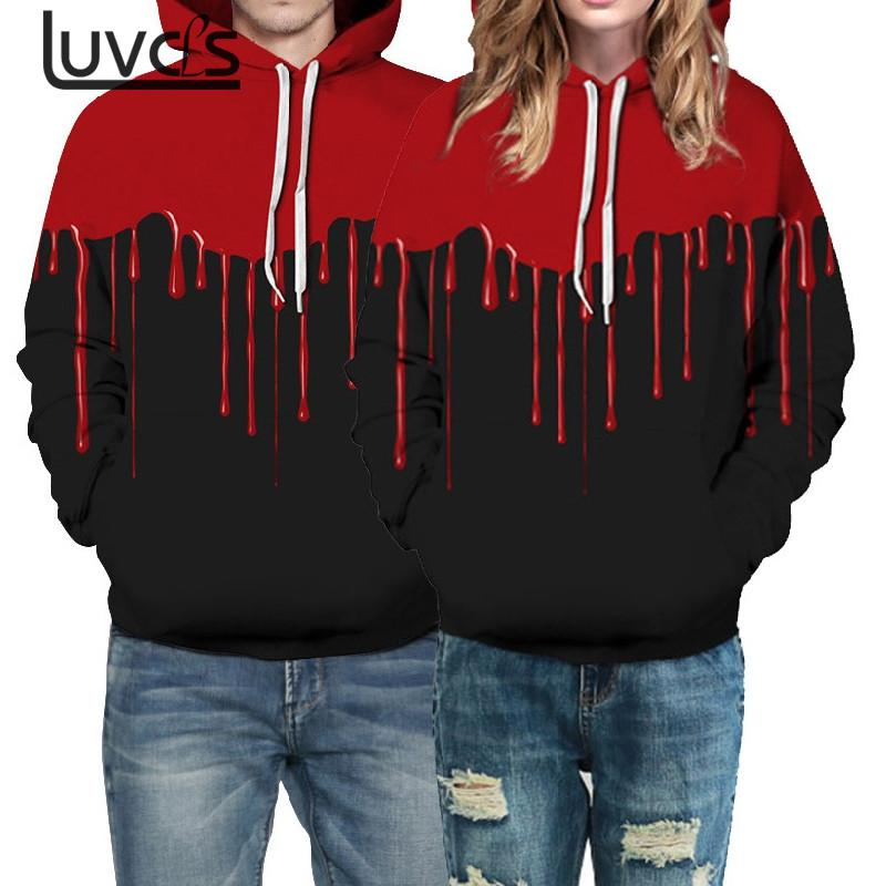 LUVCLS 2018 New 3D Lover Printted Hooded Sweatshirt Fashion Women/men Casual Hoodies Pullover Lover Women 3D Hooded Oversize
