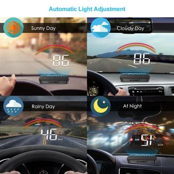 Hud affichage voiture HUD affichage tête haute GPS compteur de vitesse survitesse tension GPS + OBD 2 ordinateur voiture projecteur pare-brise Headup affichage