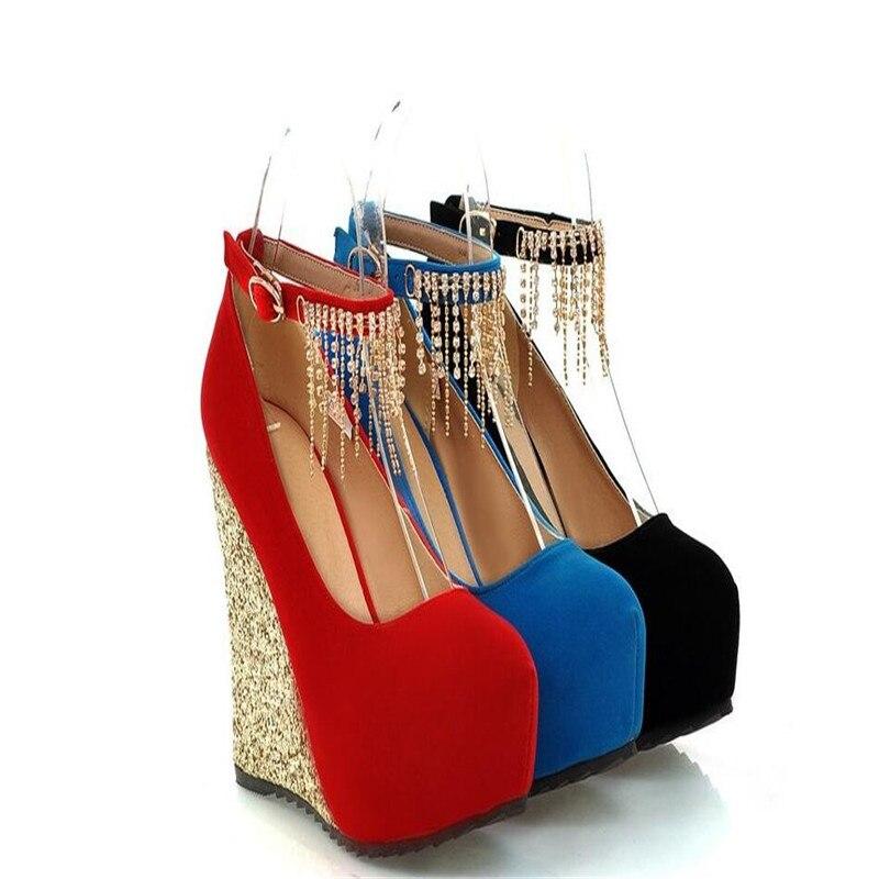 Robe Femmes Chaussures Talons Pour Sexy Compensées Strass forme Casual Mode Haut Talon 1 Plate Nouveautés Pompes De 3 2 Mariage vqYEzwn0