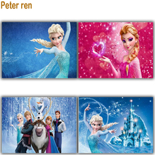 Peter ren Diamond Picture Frozen Sisters 5D Painting Elsa And Anna Rhinestone Diy Kits