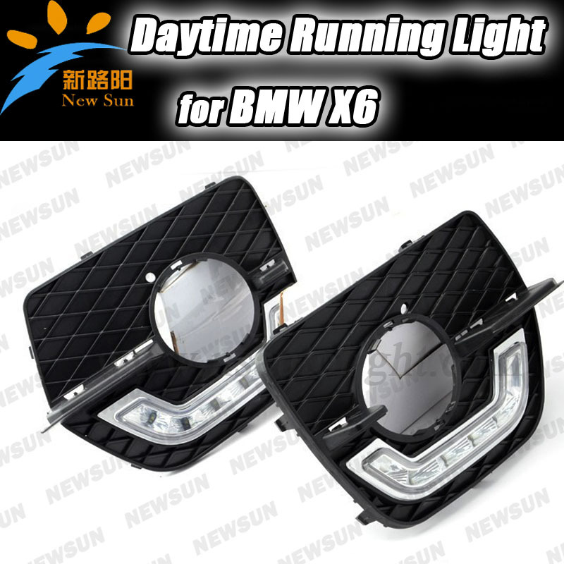 High Quality Car Led DRL Lamps ,Auto Daytime Running Light For BMW X6, LED daylight Driving Lamp fog lights Waterproof high quality h3 led 20w led projector high power white car auto drl daytime running lights headlight fog lamp bulb dc12v