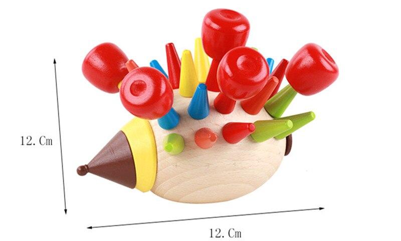 Купить с кэшбэком New Wooden Baby Toys  Hedgehog Baby Educational Toy Baby Gifts