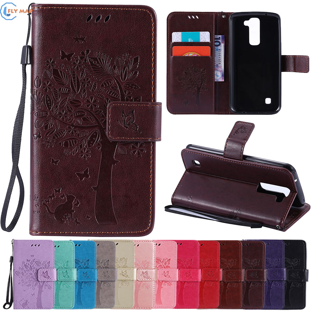 Coque For LG K8 4G LTE K350 TPU Wallet Shell Flip Mobile Phone Leather Case Cover For LG K 8 K350E K 350N K350 E LG-K350E Capa