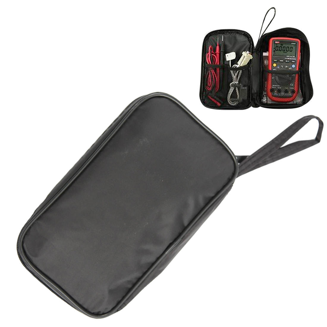 New  20*12*4cm Waterproof Tools Bag Multimeter Black Canvas Bag For UT61 Series Digital Multimeter Cloth Durable