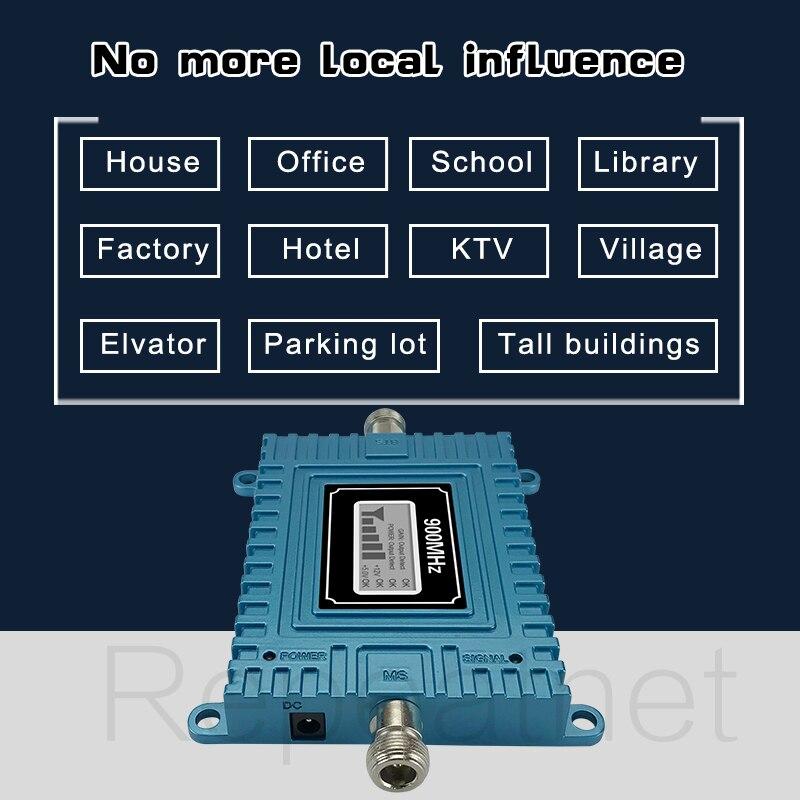 Walokcon 65dB Gain GSM répéteur 900 mhz GSM Signal Booster Mobile cellulaire amplificateur GSM 900 Yagi antenne ensemble Beeline Home Office - 5