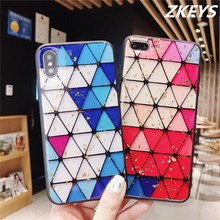 ZKFYS Soft TPU Silicone Shockproof Case For iPhone 8 7 6 6s Plus Bling Glitter Phone X XS MAX XR