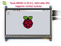 7 0 Inch HDMI LCD Module Touch Screen LCD Display 1024 600 Resolution Support Raspberry Pi