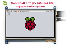 7.0 inch HDMI LCD Module Touch Screen LCD Display 1024*600 Resolution Support Raspberry Pi 2 Model B Banana Pi Banana Pro  цена 2017