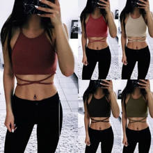 Frauen Sexy Striped Crop Top Bustier Rohr Crop Tank Top Cami Tops Weste Bluse(China)