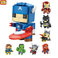 LOZ Super Hero The Avengers Figures Blocks Educational Toys Blocks Nanoblock DIY Captain America Iron man Batman Thor Model Toys