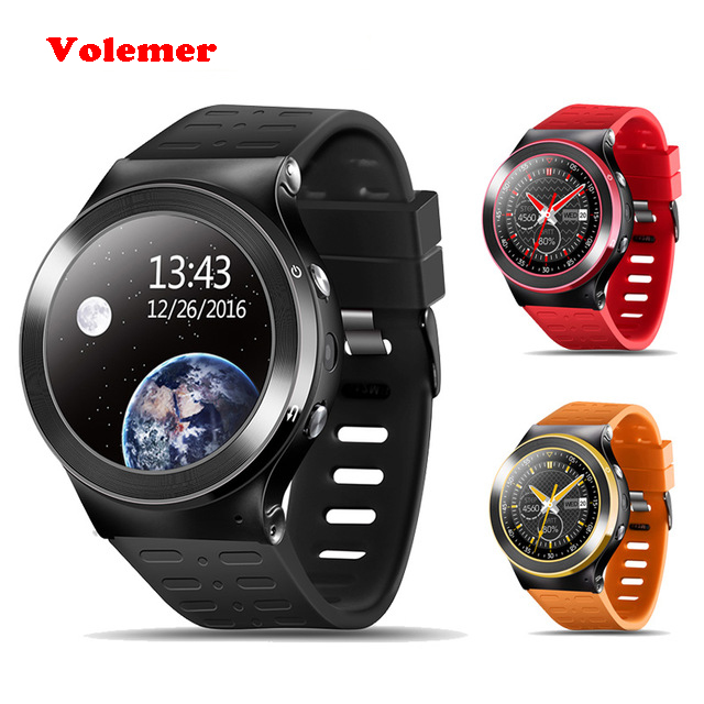 Volemer Bluetooth 4.0 S99 Smart Watch MTK6580 Android 5.1 OS Support 2G 3G Network Nano Sim Card Wifi GPS Heart Rate Monitor sim808 module gsm gprs gps development board ipx sma with gps antenna raspberry pi support 2g 3g 4g sim card