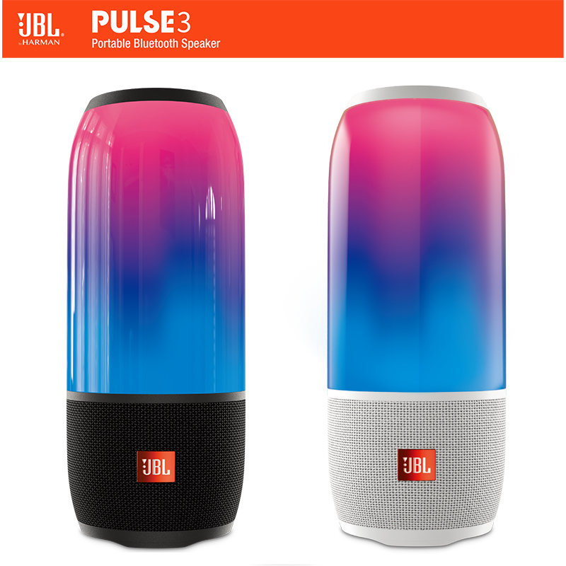 JBL Pulse3 Musica Impulso 3 Colorato Bluetooth Piccoli Altoparlanti Audio Subwoofer Portatile Mini Stereo Altoparlante Impermeabile di Disegno