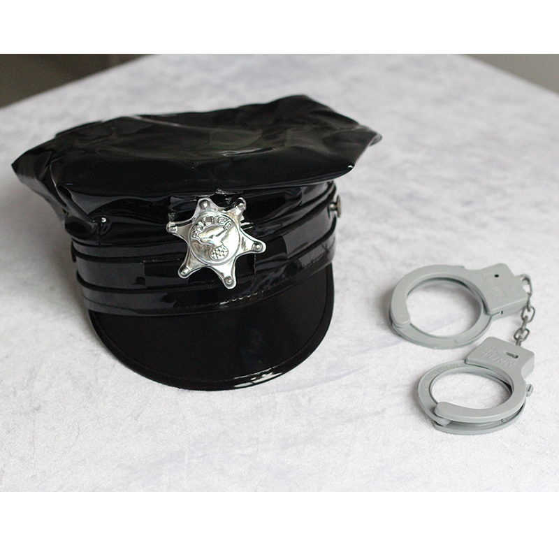Sexy Women Police Costume 2018 New Arrivals Vinyl Female Cop Handcuffs Holloween Cosplay Costume Role Play Cops W850747