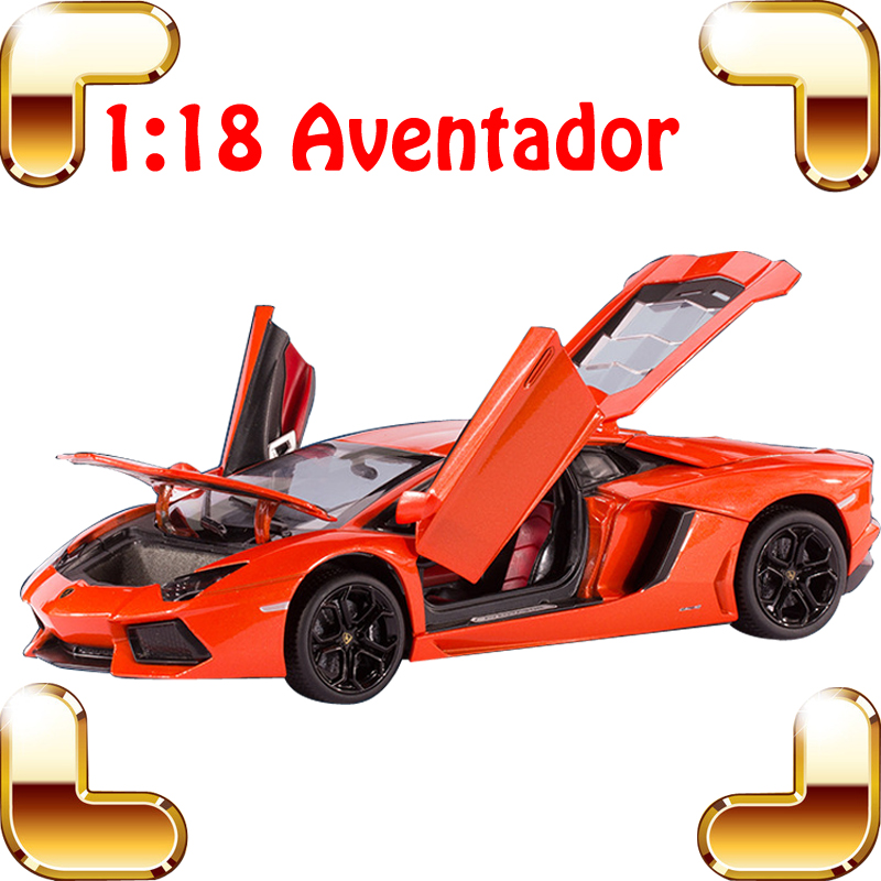 Men Favour Gift Aventador LP700-4 1/18 Big Model Car With Alloy Metal Car Frame Diecast Collection Vehicle Toys Showcase Car bburago bugatti chiron 1 18 scale alloy model metal diecast car toys high quality collection kids toys gift