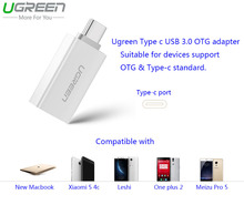 Ugreen Mi5 USB 3.0 Type C OTG Адаптер Для Huawei P9 Plus USB с OTG Разъем Для Meizu Pro 5 Типа С OTG Конвертер Для Xiaomi 4c