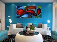 Handpainted Modern Abstract Colorful ROTATE Canvas Art Decoration Of Oil Painting Wall Pictures For Living Room Paint