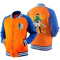 Men Attack On Titan Baseball Jacket Shingeki no Kyojin Cosplay bomber jacket Attack Windbreaker cosplay costume Coat 061503