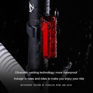 Image 3 - Feu arrière de bicyclette LED Rechargeable par USB COB VTT, feu davertissement de sécurité pour vtt, lumière de bicyclette imperméable
