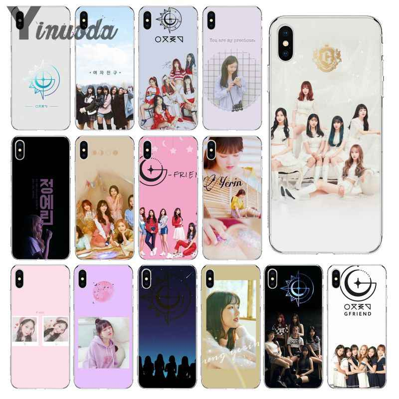 Yinuoda GFRIEND Newly Arrived Transparent Cell Phone Case for iPhone X XS MAX  6 6s 7 7plus 8 8Plus 5 5S SE XR