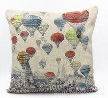 Hot Cities colorful hot air balloon cartoon cute fashion trade breathable cotton pillow cushions home