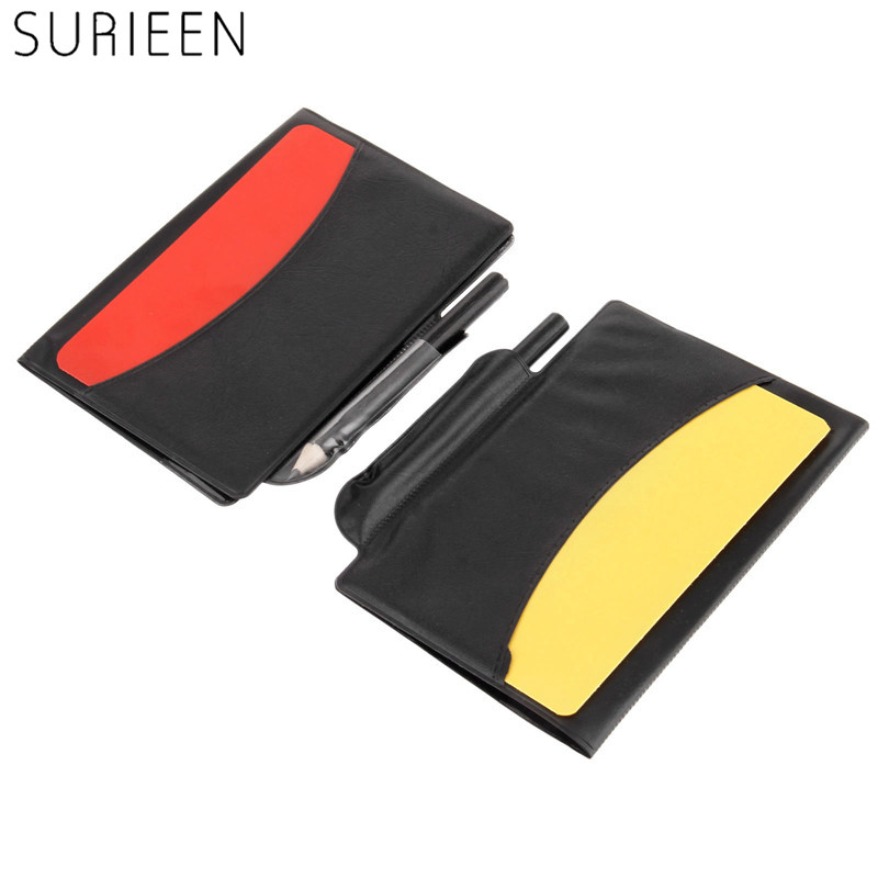2pcs Soccer Referee Folder Score Card Wallet Red Card and Yellow Card Soccer Match Record Card Sport Football Referee Notebook ...