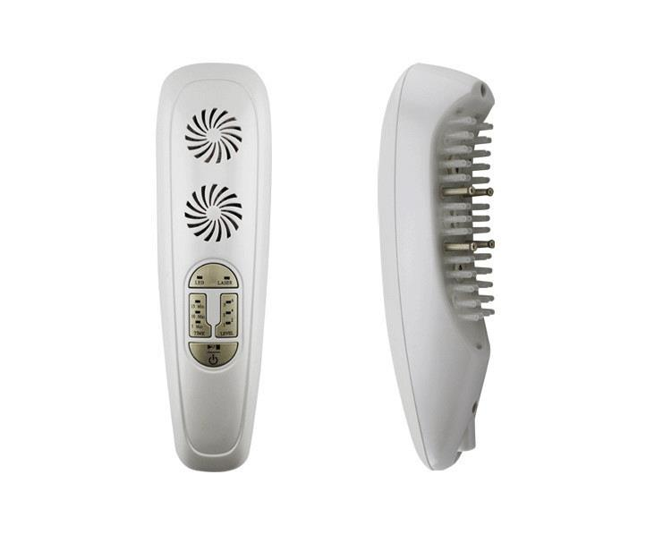 ФОТО 2016 3in1 Laser + LED LIGHT + Micro current Hair regrowth massage Growth Comb Remove scurf Repair hair massage instrument