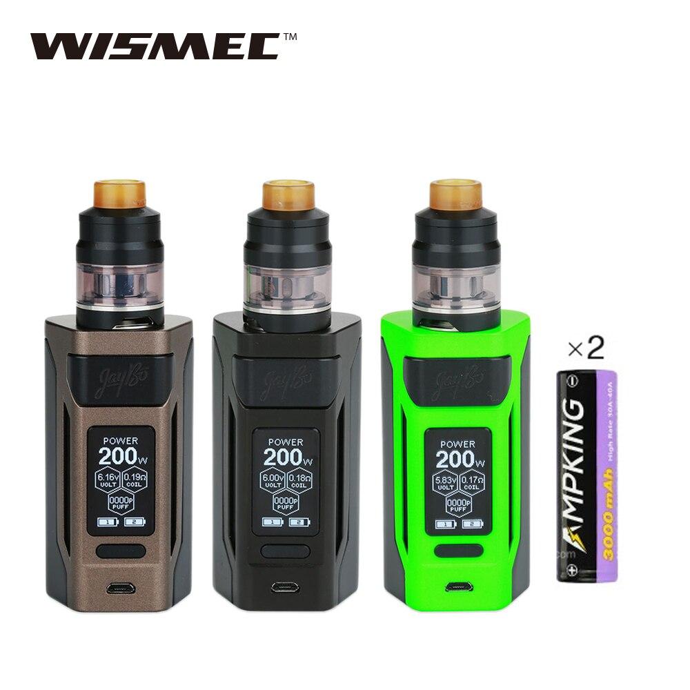 Kit vapotage d'origine 200W WISMEC Reuleaux RX2 20700 TC 2 ml/4 ml atomiseur Gnome double Ampking 20700 Batteries 6000mAh RX2 E Kit Cig