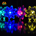Solar Garden Decoration Lamp 4.8M 20 LED Lotus Flower Solar Garland Lights for Christmas Wedding Engagement Party Decoration