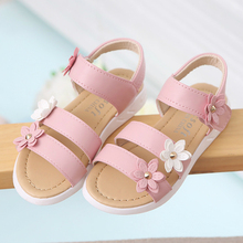 Girls Sandals 2019 Summer New Kids Shoes Lovely Flower Fashion Big Girl Baby for School Size 21-37