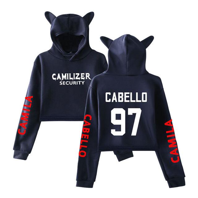 CAMILA CABELLO CROP TOP EAR HOODIE (20 VARIAN)