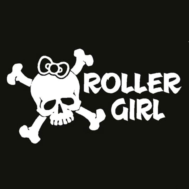 15.2CM*8.1CM Roller Girl Decal Vinyl Sticker Derby Girls Car Sticker Car Styling Vinyl Decals With Black Sliver C8-0629