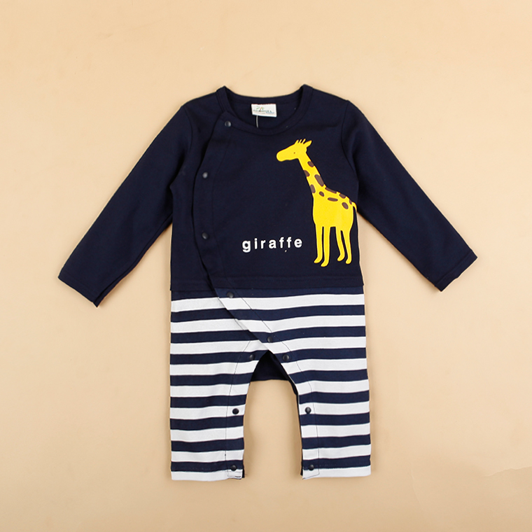HTB1zodMKFXXXXadaXXXq6xXFXXXb - 100% Cotton Baby rompers legged long sleeves baby clothing newborn cartoon Elephan Giraffe baby boy clothes girls roupas bebes