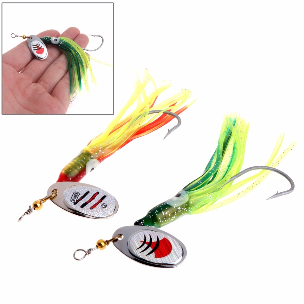 Fishing Bait Hook Spoon Spinner Fish Accessories Soft Lure Artificial Tackle Jig