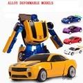 9 см робот 1:32 Сплава деформации робот модель diecasts игрушки автомобиля мальчик Трансформации игрушки гоночный автомобиль Подарки для Детей 01-24