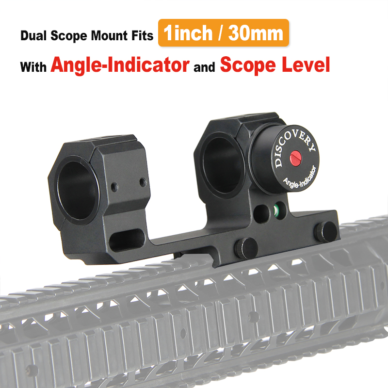 E T Dragon 30mm 25 4mm Dual Ring Rifle Scope Mount Quick Detach Angle Indicator FOR