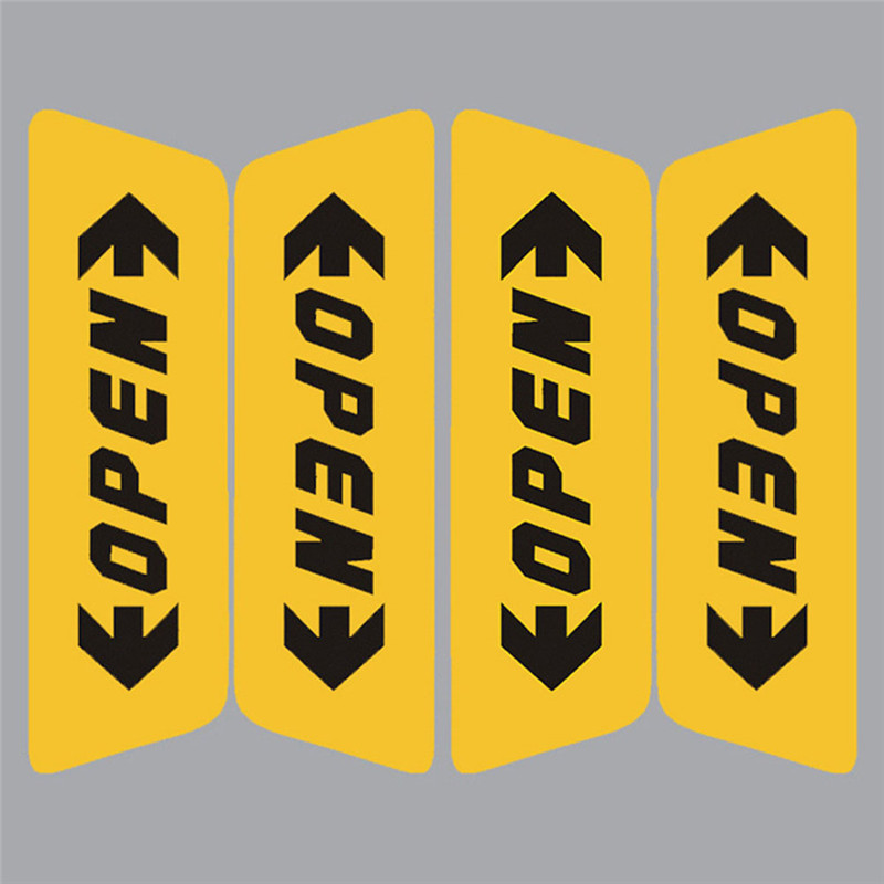 4Pcs Car Door Opening Reflective Sticker Durable Convenient Fashion Beautiful Safety Warning Stickers Auto Accessories#264337