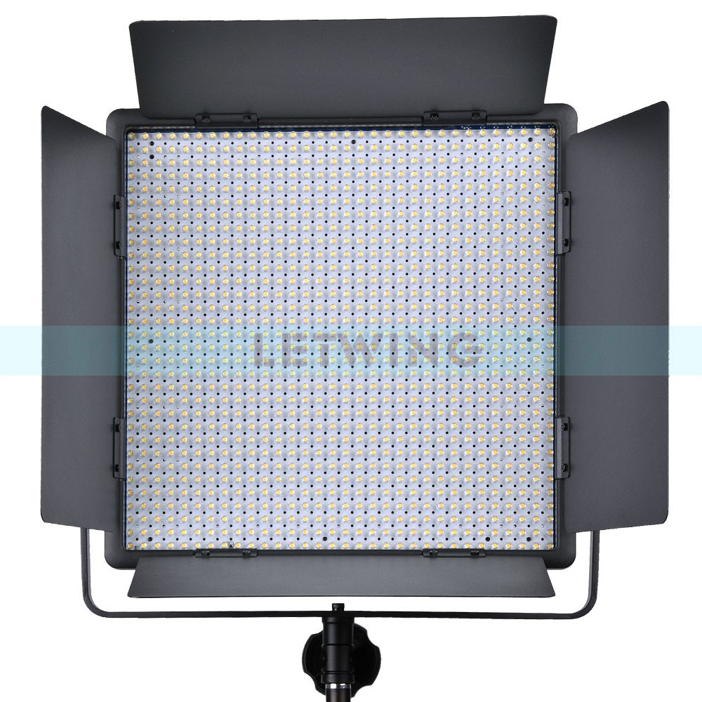 Godox LED1000W Studio Video Light Lamp For Camera Camcorder Wireless Remote White Version 5600K godox professional led video light led308w wireless 433mhz grouping system 308 led bulbs of high brightness white version