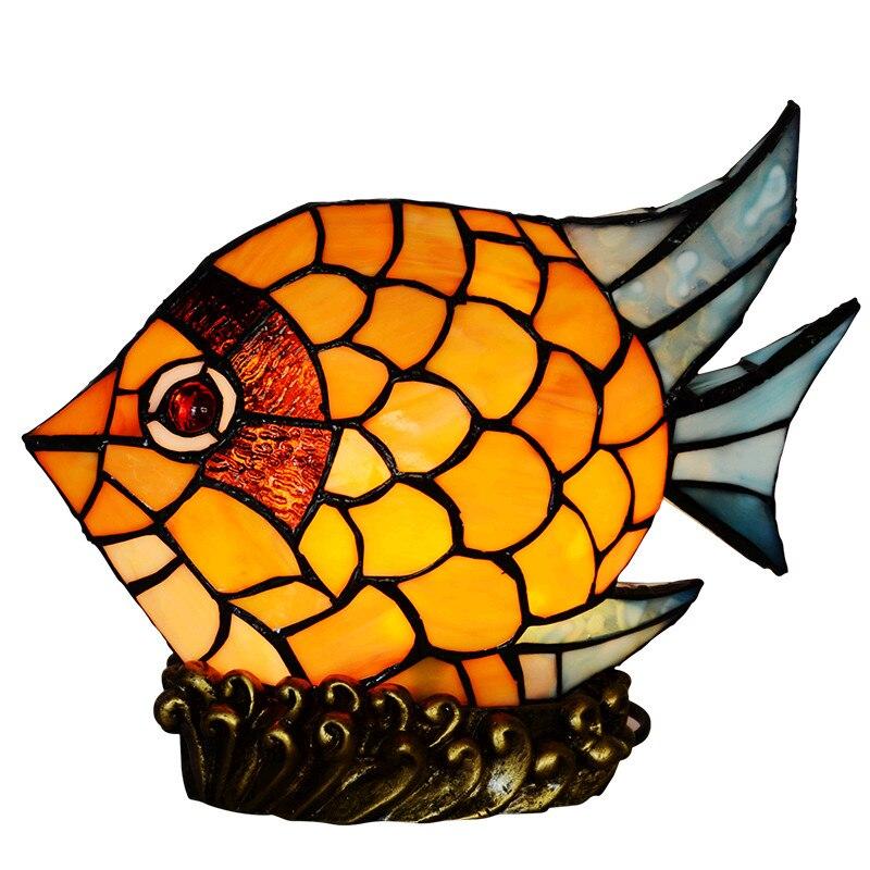 novidade criativo bebe projetor vitrais pequeno peixe criancas crianca mesa de cabeceira led night table lamp