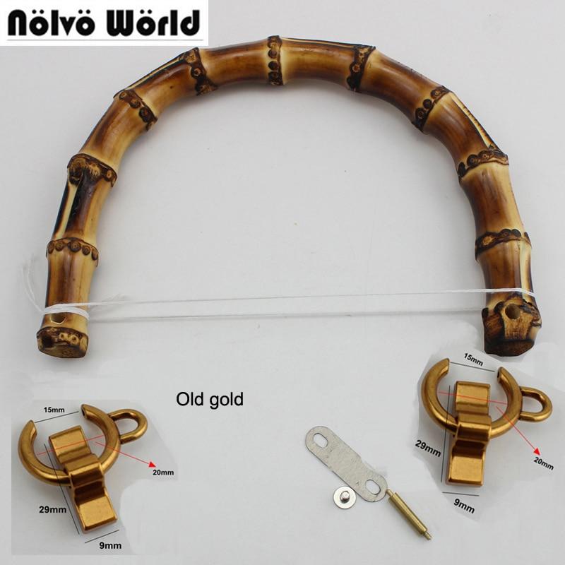 10 stück, DIY 15,5X12 cm Natürliche bambus griffe für taschen, natur bambus griff für DIY taschen geldbörse alte gold-in Taschen Teile & Zubehör aus Gepäck & Taschen bei  Gruppe 1