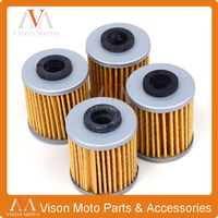 4PCS Motorcycle Oil Filter Cleaner For KAWASAKI KX250 KX 250 2004 2005 2006 2007 2008 2009