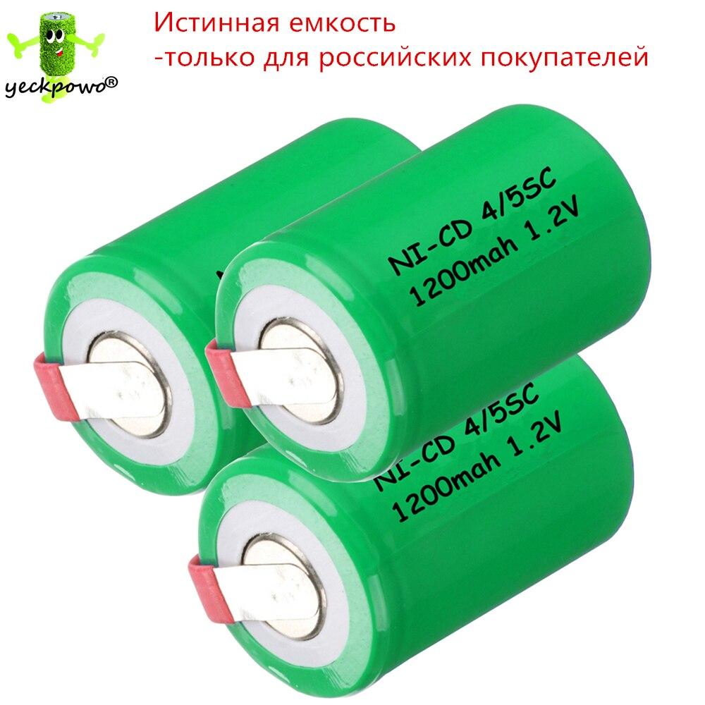 Capacidad verdadera! 3 unids 4/5 SC batería 4/5 SubC batería Recargable Ni-cd Ba