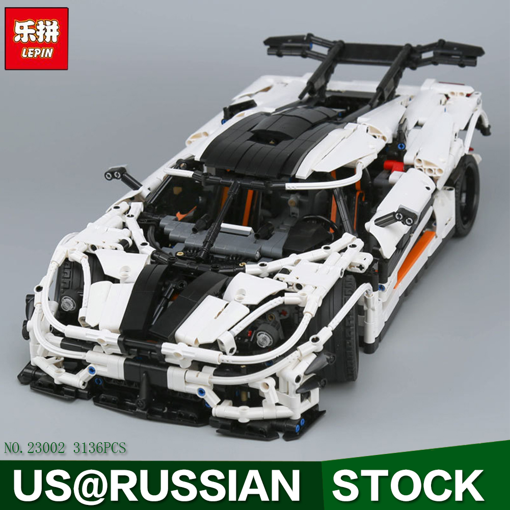 Lepin 23002 3136Pcs Technic Series The MOC-4789 Changing Racing Car Set Children Educational Building Blocks Bricks Toys Model doinbby store 21004 1158pcs with original box technic series f40 sports car model building blocks bricks 10248 children toys