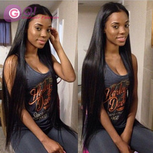 GQ 180% density silk top full lace wigs & silk base lace front wigs silky straight 100 human hair wig for african americans
