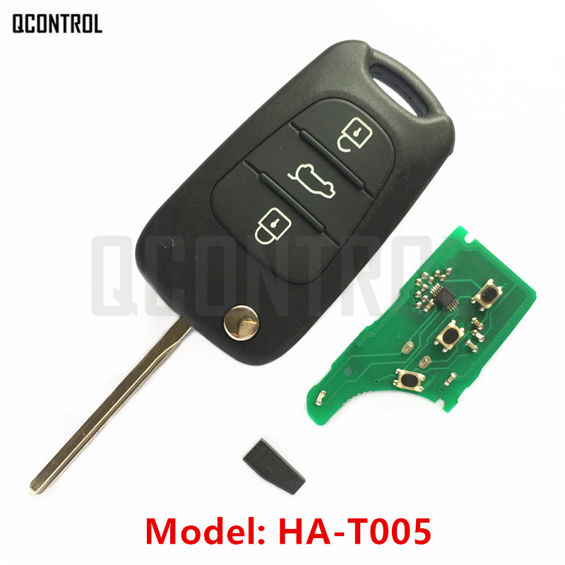 QCONTROL Car Remote Key 433MHz for KIA HA-T005 CE0678 Sportage/Rondo/Sorento/K2/Rio/Pride/K3/Forte/Cerato/K5/Optima/Soul 3 buttons car smart remote key 433 9mhz for soul sportage sorento mohave k2 k5 rio optima forte cerato for kia