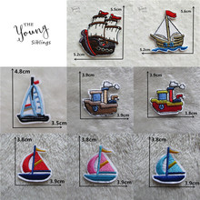 8eb426ac025dc 1PCS Embroidery Patches For Clothing Sailing Boats Cartoon Patch Iron On  Applique Garment Sewing Patch DIY